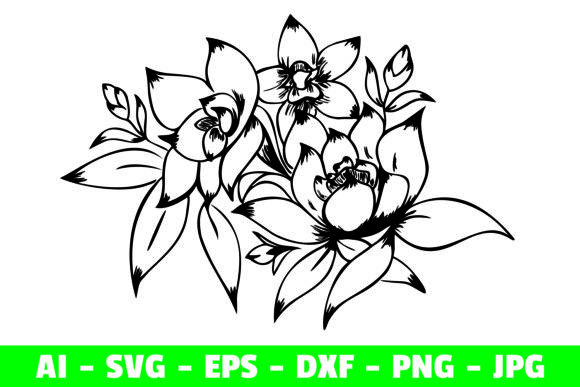 Print on Demand: Flower Clipart Craft Graphic Graphic Crafts By Girinesia