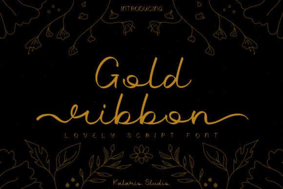Print on Demand: Gold Ribbon Script & Handwritten Font By Katario Studio