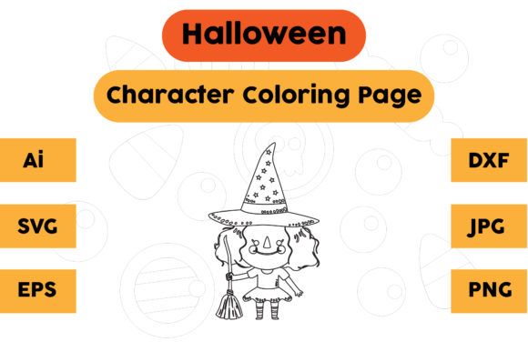 Halloween Coloring Page - Character 01 Graphic Coloring Pages & Books Kids By isalsemarang
