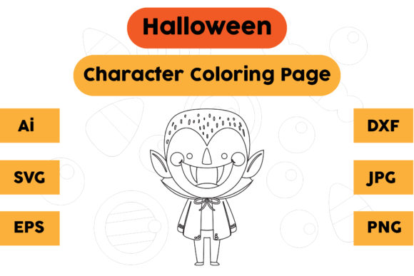 Halloween Coloring Page - Character 02 Graphic Coloring Pages & Books Kids By isalsemarang