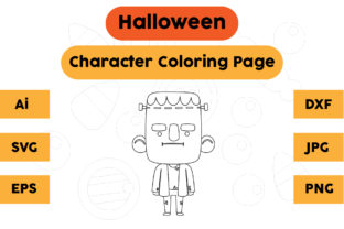 Halloween Coloring Page - Character 03 Graphic Coloring Pages & Books Kids By isalsemarang