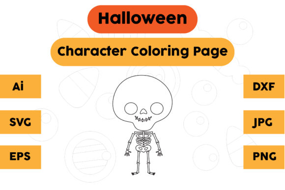 Halloween Coloring Page - Character 04 Graphic Coloring Pages & Books Kids By isalsemarang