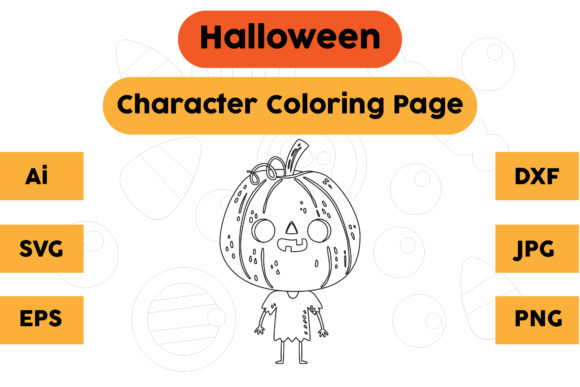 Halloween Coloring Page - Character 05 Graphic Coloring Pages & Books Kids By isalsemarang