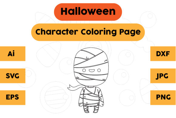 Halloween Coloring Page - Character 06 Graphic Coloring Pages & Books Kids By isalsemarang