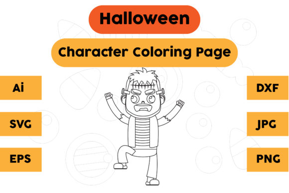 Halloween Coloring Page - Character 10 Graphic Coloring Pages & Books Kids By isalsemarang