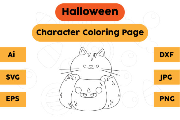 Halloween Coloring Page - Character 14 Graphic Coloring Pages & Books Kids By isalsemarang