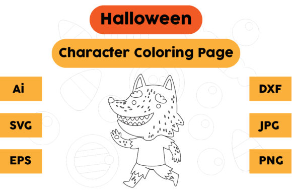 Halloween Coloring Page - Character 15 Graphic Coloring Pages & Books Kids By isalsemarang