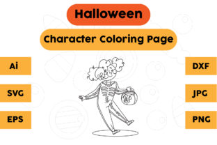 Halloween Coloring Page - Character 16 Graphic Coloring Pages & Books Kids By isalsemarang