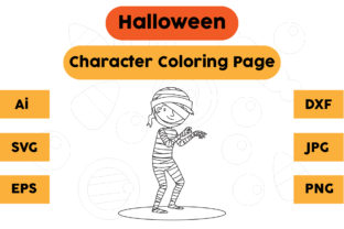 Halloween Coloring Page - Character 19 Graphic Coloring Pages & Books Kids By isalsemarang
