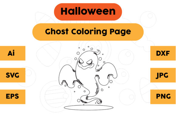 Halloween Coloring Page - Ghost 23 Graphic Coloring Pages & Books Kids By isalsemarang