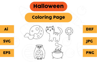Halloween Coloring Page Set 01 Graphic Coloring Pages & Books Kids By isalsemarang