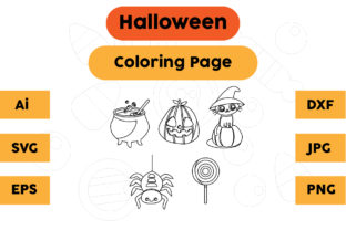 Halloween Coloring Page Set 02 Graphic Coloring Pages & Books Kids By isalsemarang
