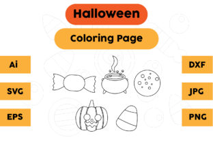 Halloween Coloring Page Set 03 Graphic Coloring Pages & Books Kids By isalsemarang