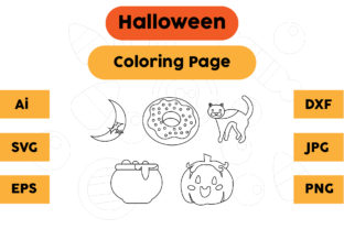Halloween Coloring Page Set 04 Graphic Coloring Pages & Books Kids By isalsemarang