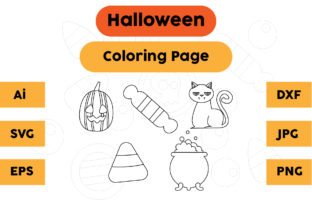 Halloween Coloring Page Set 05 Graphic Coloring Pages & Books Kids By isalsemarang