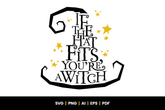 Print on Demand: Halloween Witch - Witches Hat Graphic Crafts By Little Type Factory
