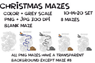 Print on Demand: Hand Drawn Christmas Weave Mazes 10-20 Graphic KDP Interiors By Kathryn Maloney