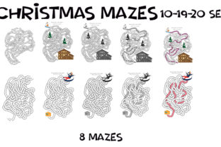 Print on Demand: Hand Drawn Christmas Weave Mazes 10-20 Graphic KDP Interiors By Kathryn Maloney 2