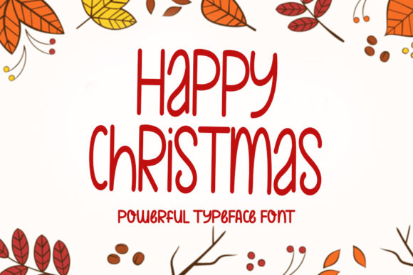 Print on Demand: Happy Christmas Script & Handwritten Font By NYA Letter