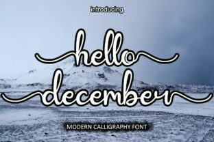 Print on Demand: Hello December Script & Handwritten Font By Hardiboy Design