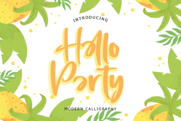Print on Demand: Hello Party Script & Handwritten Font By formatikastd