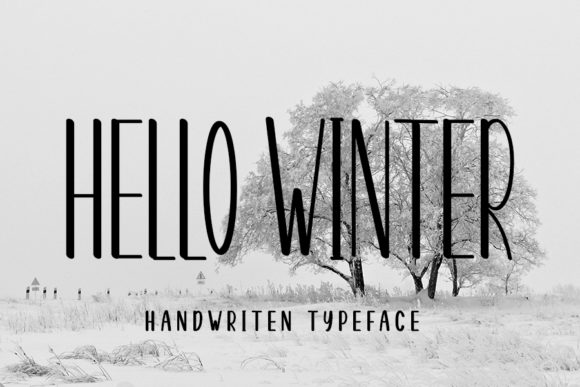 Print on Demand: Hello Winter Sans Serif Font By NYA Letter