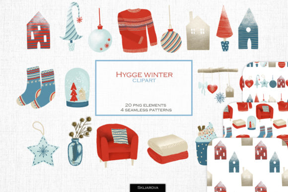 Hygge Winter Clipart Graphic Illustrations By HappyWatercolorShop