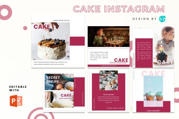 Instagram Feed - Cake Graphic Presentation Templates By 57creative