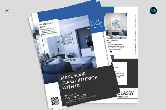 Interior Product Flyer Graphic Print Templates By risegraph