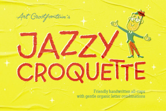 Print on Demand: Jazzy Croquette Display Font By grootfontein