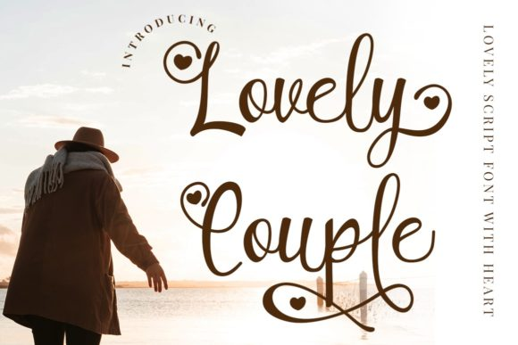 Print on Demand: Lovely Couple Script & Handwritten Font By putracetol