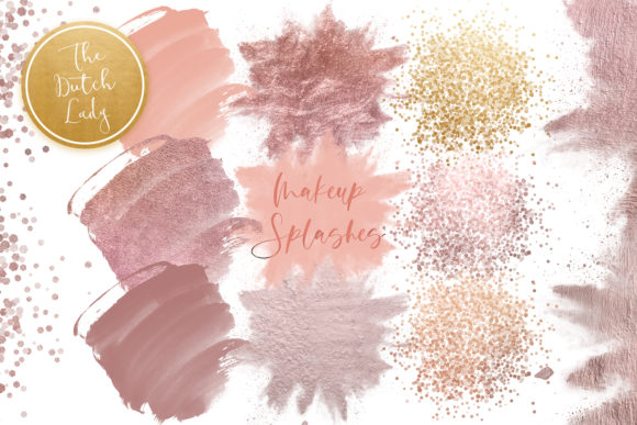 Print on Demand: Makeup Smear & Smudge Clipart Graphic Crafts By daphnepopuliers