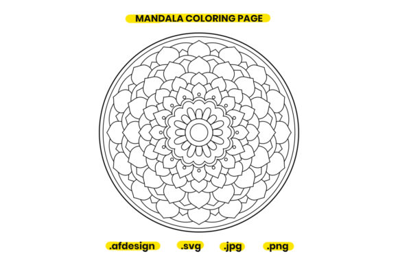 Print on Demand: Mandala Coloring Page Design 21 Graphic Coloring Pages & Books Adults By doridodesign