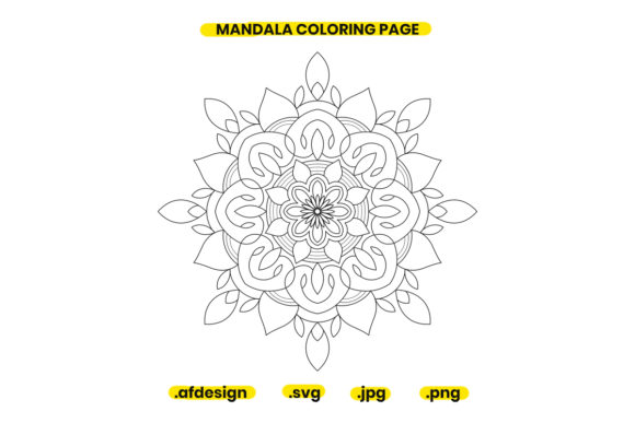Print on Demand: Mandala Coloring Page Design 22 Graphic Coloring Pages & Books Adults By doridodesign