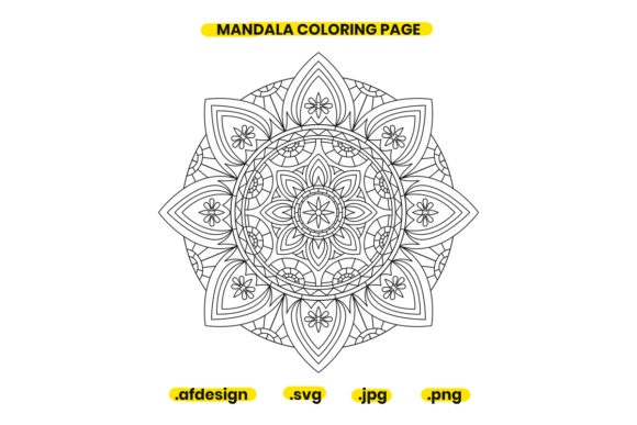 Print on Demand: Mandala Coloring Page Design 23 Graphic Coloring Pages & Books Adults By doridodesign