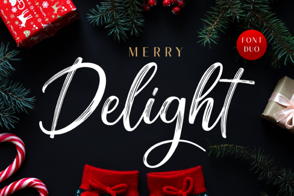 Print on Demand: Merry Delight Script & Handwritten Font By Typestory