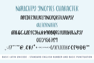Print on Demand: Naughty Gnomes Script & Handwritten Font By BitongType 12