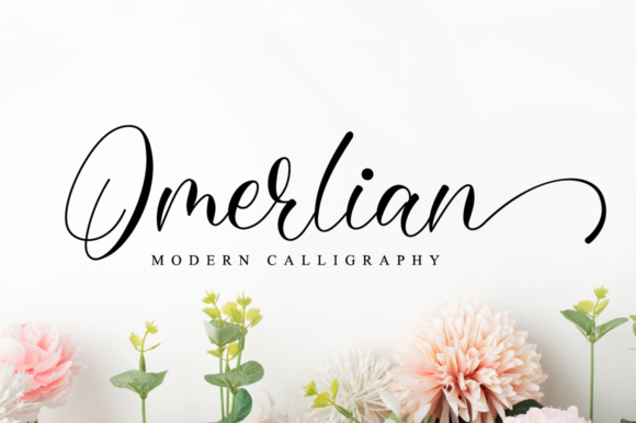 Print on Demand: Omerlian Script & Handwritten Font By NissaStudio