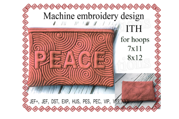 Peace Zip Bag - in the Hoop Sewing & Crafts Embroidery Design By ImilovaCreations