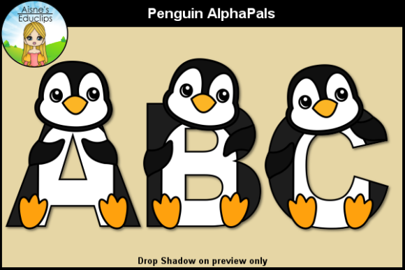 Print on Demand: Penguin AlphaPals Graphic Objects By Aisne Educlips