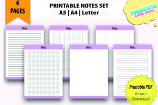 Print on Demand: Planner Template Printable Pages Size A5 Graphic Print Templates By mascute.arte