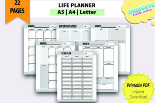 Planner Template Printable Pages Size A5 - 1