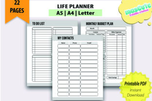 Planner Template Printable Pages Size A5 - 2