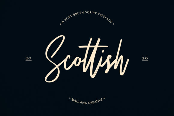 Print on Demand: Scottish Script & Handwritten Font By Maulana Creative