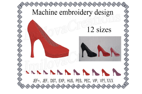 Shoe Design Sewing & Crafts Embroidery Design By ImilovaCreations