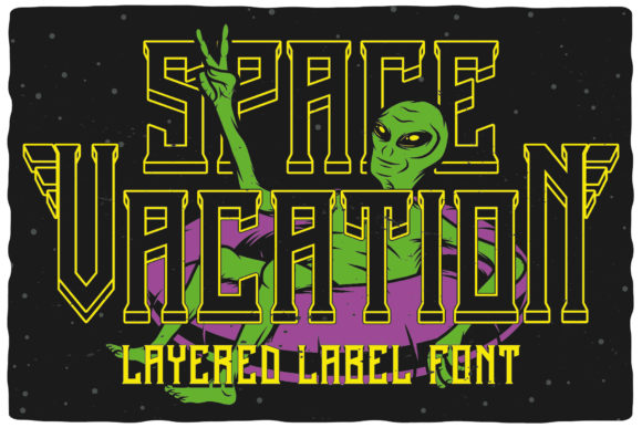 Print on Demand: Space Vacation Display Font By Vozzy Vintage Fonts And Graphics