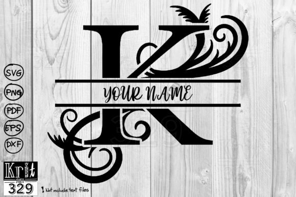 Split Monogram Svg Alphabet K Graphic Crafts By Krit-Studio329