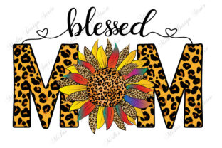 Sublimation - Sunflower Leopard Mom Graphic Crafts By MidasStudio