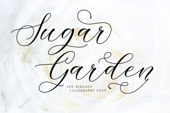 Print on Demand: Sugar Garden Script & Handwritten Font By softcreative50