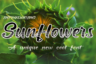 Print on Demand: Sunflowers Display Font By kateengletter